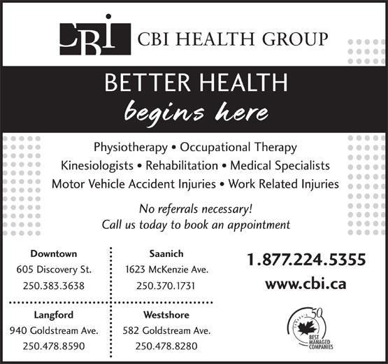 CBI Health Centre (250-383-3638) - Display Ad -