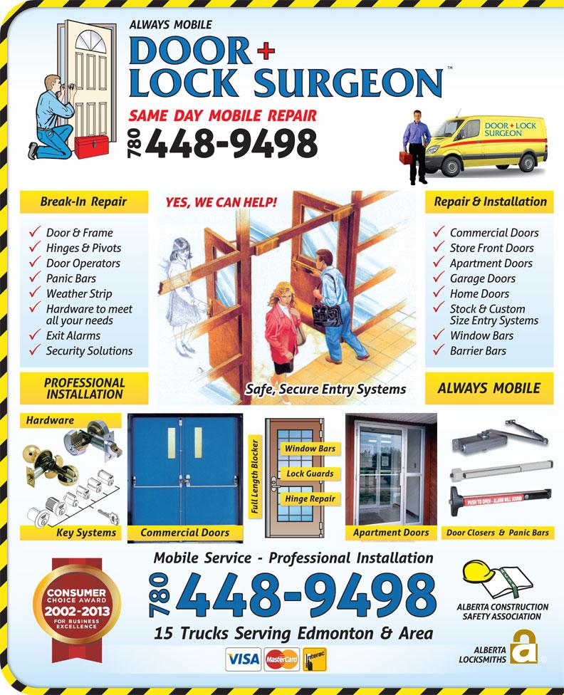 Door Surgeon (780-448-9498) - Display Ad -