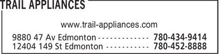 Trail Appliances (780-434-9414) - Display Ad - www.trail-appliances.com www.trail-appliances.com
