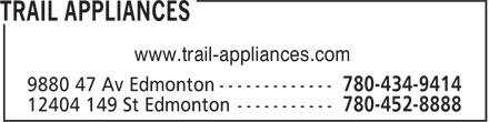 Trail Appliances (780-434-9414) - Display Ad - www.trail-appliances.com