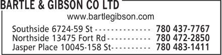 Bartle & Gibson Co Ltd (780-472-2850) - Display Ad - www.bartlegibson.com
