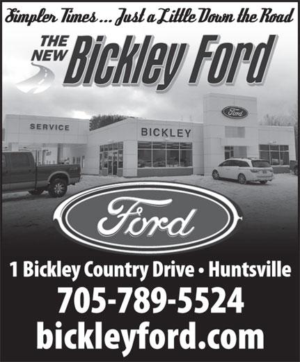 Bickley Ford Sales Ltd (705-789-5524) - Display Ad -