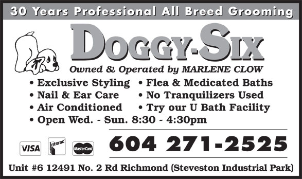 Ads Doggy-Six Grooming & Pet Supplies