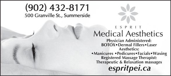 Esprit Medical Aesthetics (902-432-8171) - Display Ad -