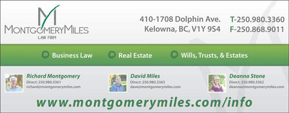 Montgomery Miles Law Firm (250-980-3360) - Annonce illustrée======= -