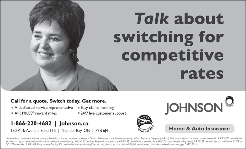 Johnson Inc (1-866-206-4478) - Display Ad -