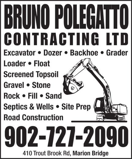 Bruno Polegatto Contracting Ltd (902-727-2090) - Annonce illustrée======= -