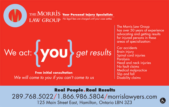 Morris Law Offices (905-526-8080) - Annonce illustrée======= - 289.768.5022/1.866.986.5804/morrislawyers.com