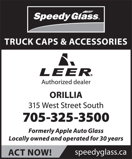 Speedy Glass (705-325-3500) - Display Ad -