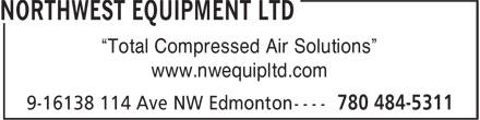 Northwest Equipment Ltd (780-484-5311) - Annonce illustrée======= -