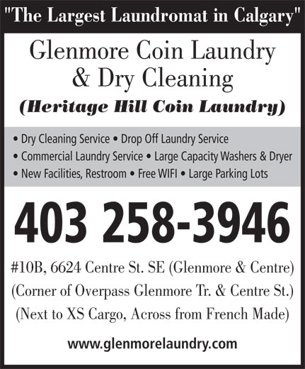 Ads Glenmore Coin Laundry & Dry Cleaning