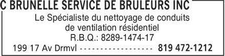 C Brunelle Service De Brûleurs Inc (819-472-1212) - Annonce illustrée======= -