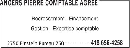 A Services Corporatifs (418-656-4258) - Annonce illustrée======= - Gestion - Expertise comptable Redressement - Financement