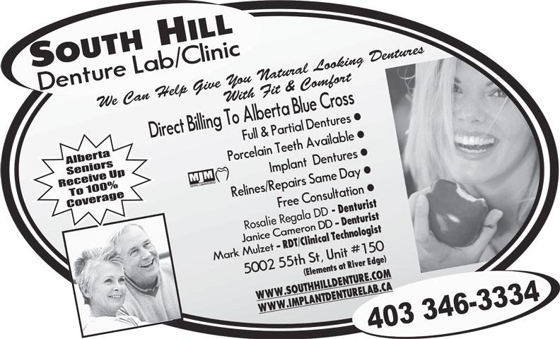 South Hill Denture Lab & Clinic (403-346-3334) - Annonce illustrée======= - - Denturist Rosalie Regala DD