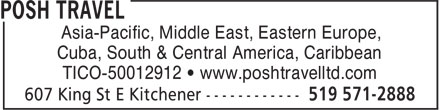 Posh Travel Ltd (519-571-2888) - Annonce illustrée======= - Asia-Pacific, Middle East, Eastern Europe, Cuba, South & Central America, Caribbean TICO-50012912 • www.poshtravelltd.com