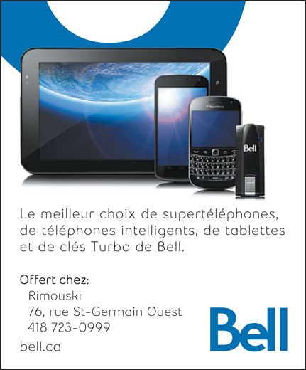 Bell (418-723-0999) - Display Ad -