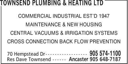 Ads Townsend Plumbing & Heating Ltd