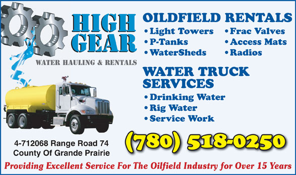 Ads High Gear Water Services