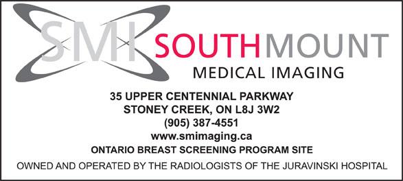 SouthMount Medical Imaging (905-387-4551) - Display Ad - MEDICAL IMAGING SMI SOUTH MOUNT