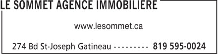 Le Sommet Agence Immobiliere (819-595-0024) - Display Ad - www.lesommet.ca www.lesommet.ca www.lesommet.ca www.lesommet.ca