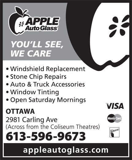 Apple Auto Glass (613-596-9673) - Display Ad -