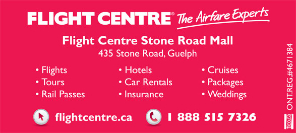 Flight Centre (1-888-515-7326) - Display Ad -