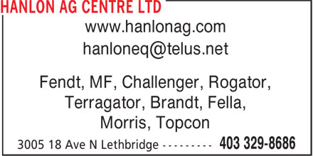 Ads Hanlon Ag Centre Ltd