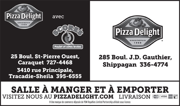 Pizza Delight (506-336-4774) - Display Ad -