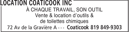 Ads Location Coaticook Inc