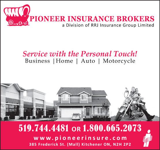 Pioneer Insurance (519-744-4481) - Display Ad -