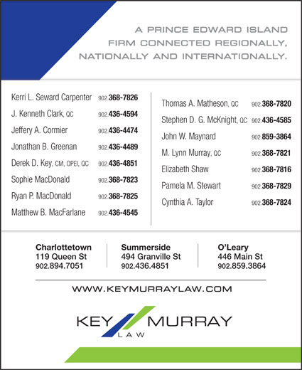 Key Murray Law (902-894-7051) - Annonce illustrée======= -
