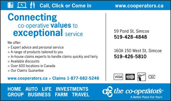 The Co-operators (1-877-682-5246) - Display Ad -