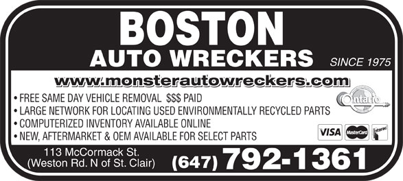 Ads Boston Auto Wreckers