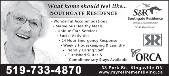 Southgate Residence (519-733-4870) - Display Ad -