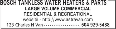 Astravan Distributors Ltd (604-929-5488) - Annonce illustrée======= - LARGE VOLUME COMMERCIAL RESIDENTIAL & RECREATIONAL website - http://www.astravan.com
