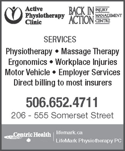 Active Physiotherapy Clinic (506-642-7872) - Display Ad -