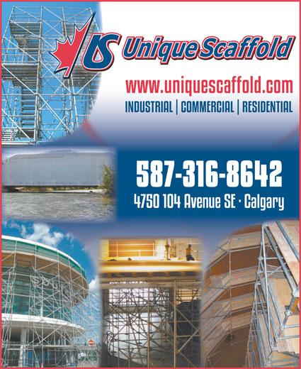 Unique Scaffold Inc (403-203-3422) - Annonce illustrée======= -