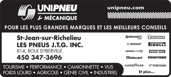 Ads Pneus J T G Inc (Les)
