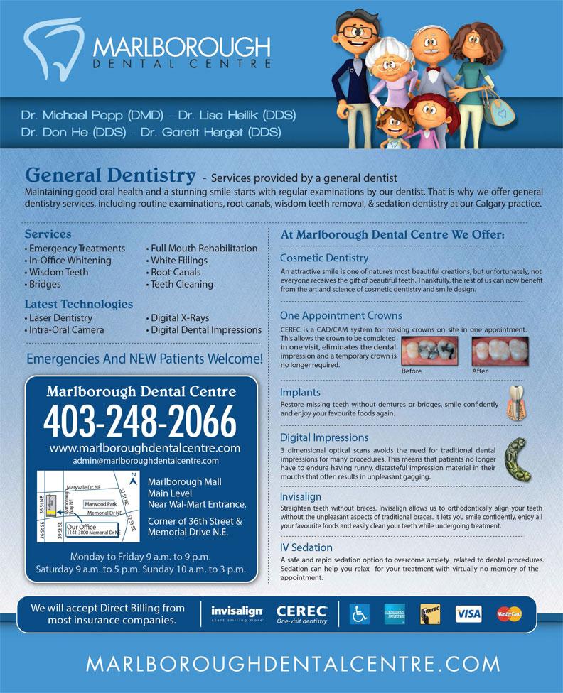 Marlborough Dental Centre (403-248-2066) - Annonce illustrée======= -