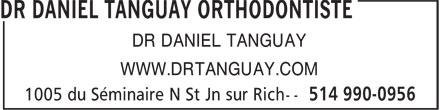 Dr Daniel Tanguay Orthodontiste (514-990-0956) - Annonce illustrée======= - DR DANIEL TANGUAY WWW.DRTANGUAY.COM