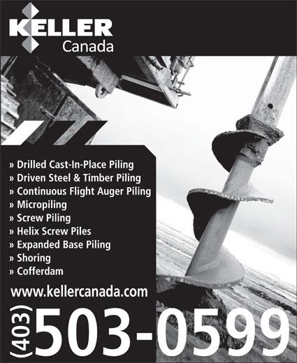 Keller Foundations Inc (403-503-0599) - Display Ad - www.kellercanada.com