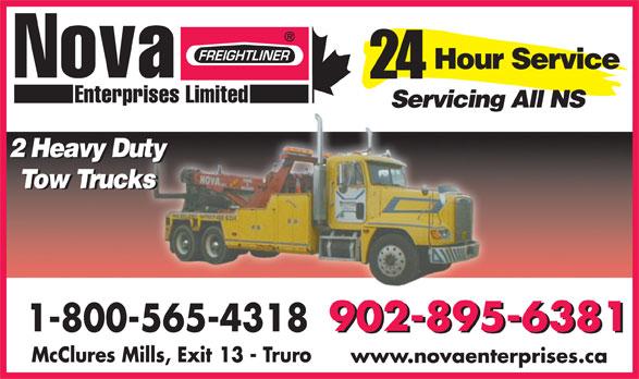 Freightliner Trucks Nova Enterprises Limited (902-895-6381) - Display Ad - www.novaenterprises.ca