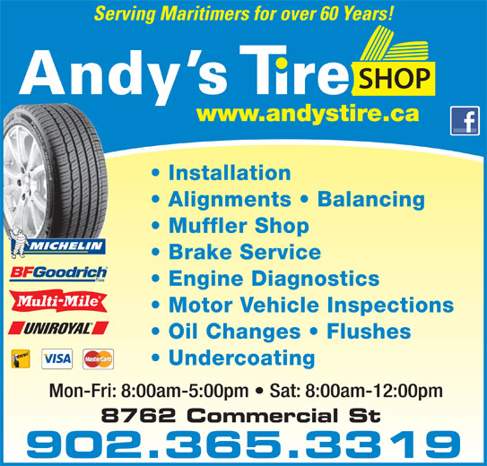 Ads Andys Tire Shop