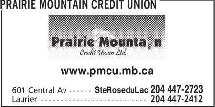 Prairie Mountain Credit Union (204-447-2723) - Display Ad - www.pmcu.mb.ca