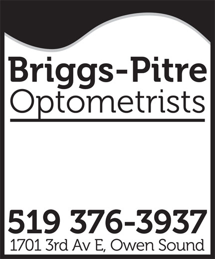 Briggs-Pitre Optometrists (519-376-3937) - Display Ad -