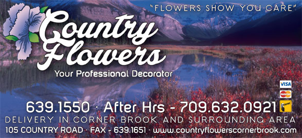 Country Flowers (709-639-1550) - Display Ad -