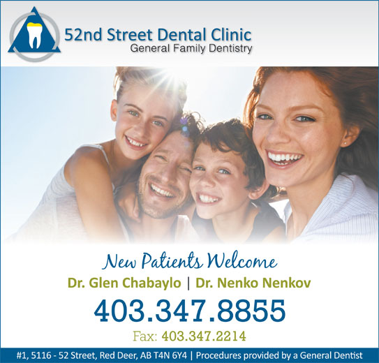 52nd Street Dental Clinic (403-347-8855) - Annonce illustrée======= -