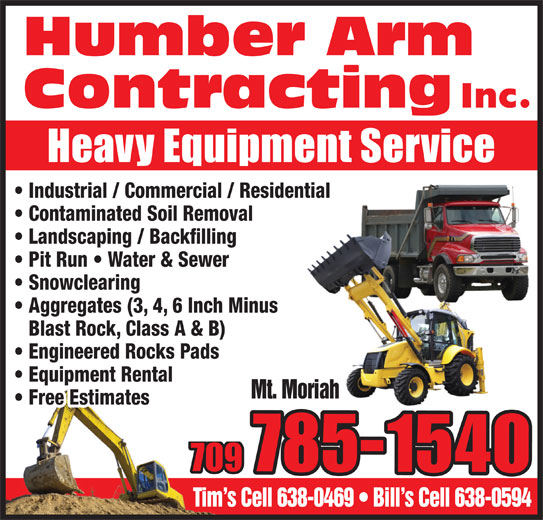 Humber Arm Contracting (709-785-1540) - Annonce illustrée======= -