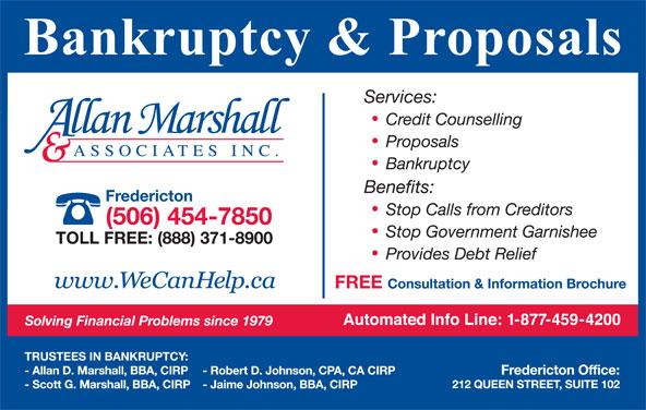 Allan Marshall & Associates Inc (506-454-7850) - Display Ad -