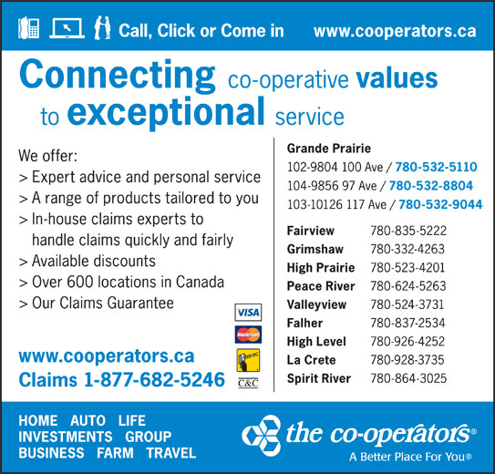 The Co-operators (403-653-4421) - Display Ad -